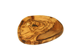Single Coasters made of Olive Wood for Glasses